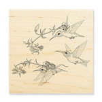 Stampendous - House Mouse Designs - Wood Mounted Stamps - Fuchsia Flight