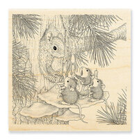 Stampendous - Christmas - House Mouse Designs - Wood Mounted Stamps - Squirrel Singers