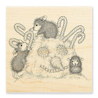 Stampendous - House Mouse Designs - Wood Mounted Stamps - Peppermint Hair