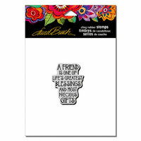 Stampendous - Cling Mounted Rubber Stamps - A Friend Is