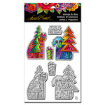 Stampendous - Christmas - Die and Cling Mounted Rubber Stamps - Holiday Friends