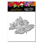 Stampendous - Cling Mounted Rubber Stamps - Flutterbye Trio