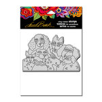 Stampendous - Cling Mounted Rubber Stamps - Playful Pups