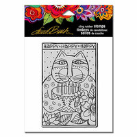 Stampendous - Cling Mounted Rubber Stamps - Happy Bday Cat