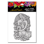 Stampendous - Cling Mounted Rubber Stamps - Mermaid Heart