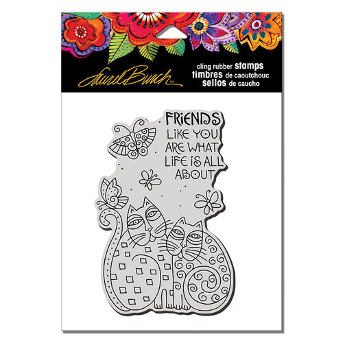 Stampendous - Cling Mounted Rubber Stamps - Feline Friends Like You