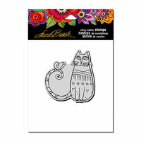 Stampendous - Cling Mounted Rubber Stamps - Cat and Feathered Friend