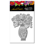 Stampendous - Cling Mounted Rubber Stamps - Floral Vase