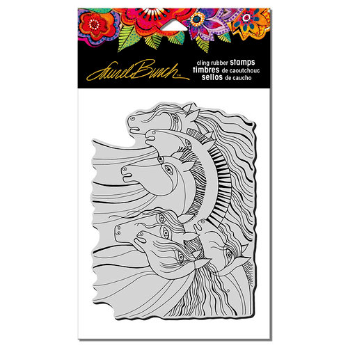 Stampendous - Cling Mounted Rubber Stamps - Wild Horses