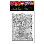 Stampendous - Cling Mounted Rubber Stamps - Flower Bouquet