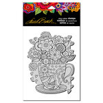 Stampendous - Cling Mounted Rubber Stamps - Teacup