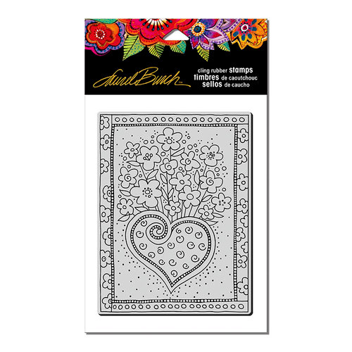 Stampendous - Cling Mounted Rubber Stamps - Heart Bouquet