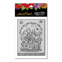 Stampendous - Cling Mounted Rubber Stamps - Flutterbye Cake