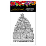 Stampendous - Christmas - Cling Mounted Rubber Stamps - Festive Felines