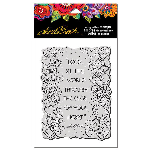 Stampendous - Cling Mounted Rubber Stamps - Heart View