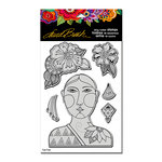 Stampendous - Cling Mounted Rubber Stamps - Blossoming Woman