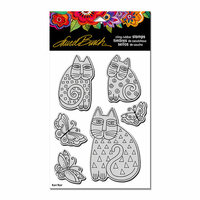 Stampendous - Cling Mounted Rubber Stamps - Indigo Cats