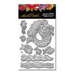 Stampendous - Cling Mounted Rubber Stamps - Mermaid Fish