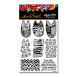 Stampendous - Cling Mounted Rubber Stamps - Tribal Cats