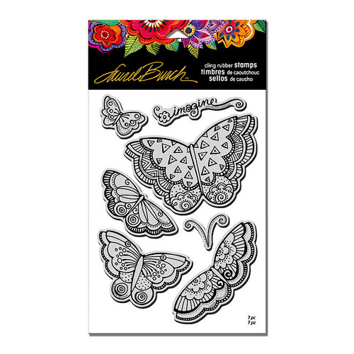 Stampendous - Cling Mounted Rubber Stamps - Imagine Butterflies