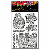 Stampendous - Cling Mounted Rubber Stamps - Feline Blooms