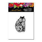 Stampendous - Cling Mounted Rubber Stamps - Flowering Feline