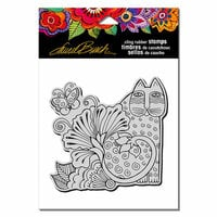 Stampendous - Cling Mounted Rubber Stamps - Blossoming Feline