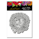 Stampendous - Christmas - Cling Mounted Rubber Stamps - Wreath Mare