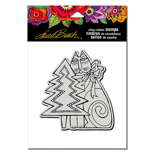 Stampendous - Christmas - Cling Mounted Rubber Stamps - Feline Christmas