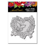 Stampendous - Cling Mounted Rubber Stamps - Butterfly Heart