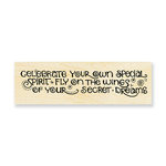 Stampendous - Wood Mounted Stamps - Celebrate Dreams