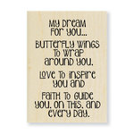 Stampendous - Wood Mounted Stamps - My Dream