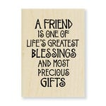 Stampendous - Wood Mounted Stamps - A Friend Is
