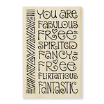 Stampendous - Wood Mounted Stamps - Fabulous
