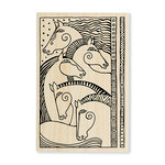 Stampendous - Wood Mounted Stamps - Horse Friends
