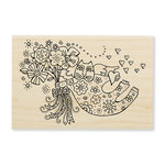 Stampendous - Wood Mounted Stamps - Love Cat Angel