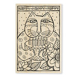 Stampendous - Wood Mounted Stamps - Happy Bday Cat
