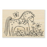Stampendous - Wood Mounted Stamps - Mystical Mare