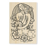 Stampendous - Wood Mounted Stamps - Mermaid Heart