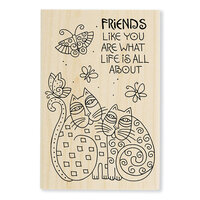 Stampendous - Wood Mounted Stamps - Feline Friends Like You