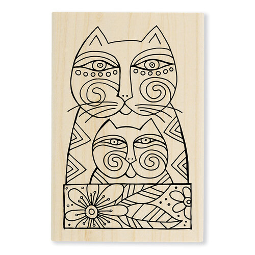 Stampendous - Wood Mounted Stamps - Feline Love