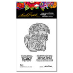 Stampendous - Cling Mounted Rubber Stamps - Umbrella Cats