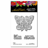 Stampendous - Cling Mounted Rubber Stamps - Mosaic Butterfly