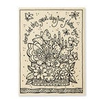 Stampendous - Wood Mounted Stamps - Flutterbye Cake
