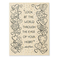 Stampendous - Wood Mounted Stamps - Heart View