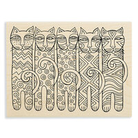 Stampendous - Wood Mounted Stamps - Feline Clan