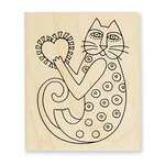 Stampendous - Wood Mounted Stamps - A Happy Heart