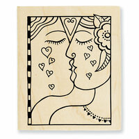 Stampendous - Wood Mounted Stamps - Kiss