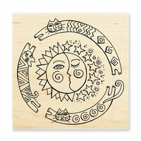 Stampendous - Wood Mounted Stamps - Sun Chase