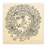 Stampendous - Christmas - Wood Mounted Stamps - Wreath Mare